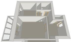 Исходная планировка - стандартная двухкомнатная квартира с раздельными санузлами и изолированными балконами.